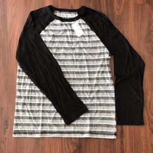 Boys size L (10/12) striped Ragland shirt-NWT.
